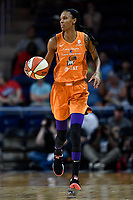 Washington, DC - July 30, 2019: Phoenix Mercury forward DeWanna Bonner (24) brings the ball up court during first half action of game between the Phoenix Mercury and Washington Mystics at the Entertainment & Sports Arena in Washington, DC. (Photo by Phil Peters/Media Images International)