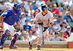 3 July 2005: Brian Schneider, catcher for the Washington Nationals, at bat against the Chicago Cubs. The Nationals defeated the Cubs 5-4 in 12 innings to sweep the 3-game series at Wrigley Field in Chicago, IL. Mandatory Photo Credit: Ed Wolfstein