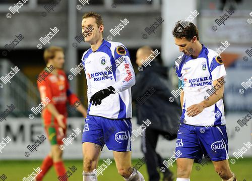 2010-12-12 / Voetbal / seizoen 2010-2011 / KSK Heist - KV Oostende / Een lachende Jan Hendrickx (Heist) na de overwinning tegen Oostende..Foto: Mpics