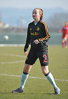 20180221 - TUBIZE , BELGIUM : Belgian Sari Kees pictured during the friendly female soccer match between Women under 17 teams of  Belgium and Czech Republic , in Tubize , Belgium . Wednesday 21th February 2018 . PHOTO SPORTPIX.BE / DIRK VUYLSTEKE