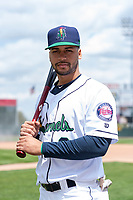 Cedar Rapids Kernels outfielder Gilberto Celestino (8) poses for a photo before a Midwest League game against the Dayton Dragons at Perfect Game Field on May 5, 2019 in Cedar Rapids, Iowa. (Zachary Lucy/Four Seam Images)