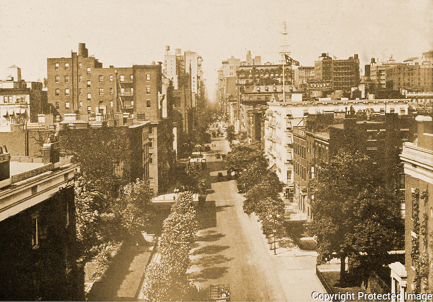 New York History:  5th Ave. from top of Washington Arch.  Silver's LOST NEW YORK,  p. 42.