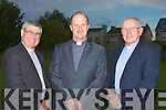 PARISH: Fr Padraig Walsh PP (centre)St Mary's & Brendans's Tralee with Fr Patsy Lynch CC(right) and the Dean Fr Sean Hanafin(left) at the Clergy's of the Kerry Parish celebrating the 40th Anniversar of the Paris of St Mary's & St Brendan's Tralee on Tuesday evening..