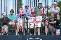 European fans on hand at the first tee to watch Ian Poulter (GBR) tee off during round 4 of the Houston Open, Golf Club of Houston, Houston, Texas. 4/1/2018.<br /> Picture: Golffile | Ken Murray<br /> <br /> <br /> All photo usage must carry mandatory copyright credit (&copy; Golffile | Ken Murray)