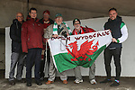 LONDON, ENGLAND - MARCH 29: Wrexham fans arrive at a wet Wembly Stadium ahead of the FA Carlsberg Trophy Final 2015 at Wembley Stadium on March 29, 2054 in London, England. (Photo by David Horn/EAP)