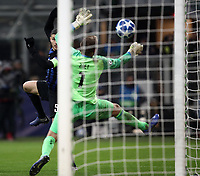 Football: UEFA Champions League -Group Stage - Group B - FC Internazionale Milano vs PSV Eindhoven, Giuseppe Meazza  (San Siro) Stadium, Milan Italy, December 11, 2018.<br /> Inter Milan's Captain Mauro Icardi (l) scores during the Uefa Champions League football match between Inter Milan and PSV Eindhoven at Giuseppe Meazza  (San Siro) Stadium in Milan on December 11, 2018. <br /> UPDATE IMAGES PRESS/Isabella Bonotto