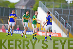 Colm Cooper, Kerry in action against Robbie Costigan, Tipperary in the first round of the Munster Football Championship at Fitzgerald Stadium on Sunday.