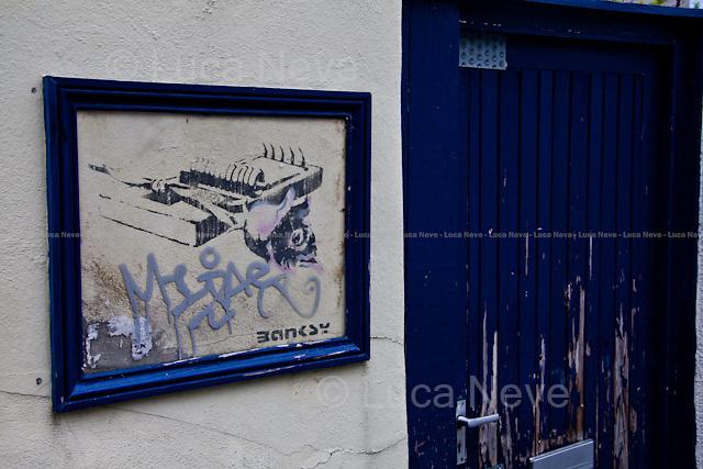 Banksy.<br /> <br /> Bristol - 18 June 2012