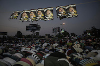In this Friday, Jul. 12, 2013 photo, Muslim supporters of the ousted president Mohammed Morsi offer prayers in the streets nearby Al Rabaa mosque in Nasr City, Cairo. (Photo/Narciso Contreras).