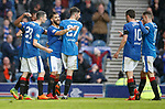 07.04.2018 Rangers v Dundee:<br /> Daniel Candeias celebrates his goal