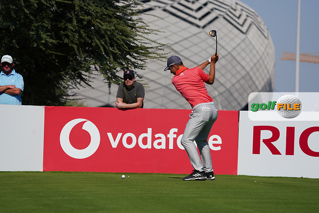 Guido Migliozzi (ITA) on the 11th during Round 1 of the Commercial Bank Qatar Masters 2020 at the Education City Golf Club, Doha, Qatar . 05/03/2020<br /> Picture: Golffile | Thos Caffrey<br /> <br /> <br /> All photo usage must carry mandatory copyright credit (© Golffile | Thos Caffrey)