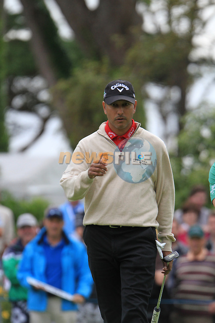 Current Leader Jeez Milkha Singh on the 18th after finishing  -8 on  Day 1 Thursday of The Irish Open presented by Discover Ireland at Killarney Golf & Fishing Club on 28th July 2011  ..(Photo Jenny Matthews/www.golffile.ie)