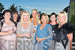 ..SUPPORTERS: Supporting the 50th Anniversary Rose of Tralee Rose Ball in the Rose of Tralee Topaz Dome on Friday night. Front l-r: Martina McCarthy, Margaret McIntyre, Bernadette Leahy and Tess Breen. Back l-r: Lorraine McIntrye, Sandra Breen and Abine Linnane.. ....