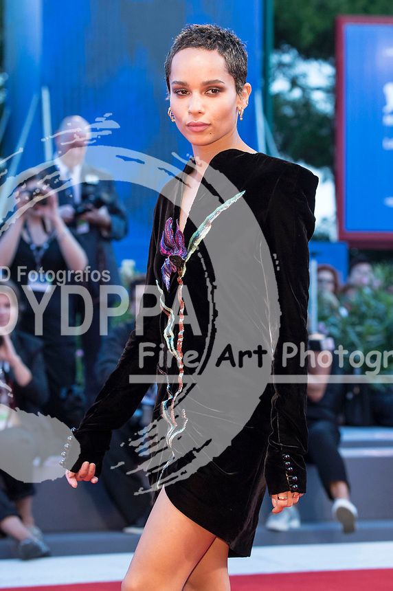 Zoe Kravitz attending the 'Le Fidèle' premiere at the 74th Venice International Film Festival at the Palazzo del Cinema on September 08, 2017 in Venice, Italy