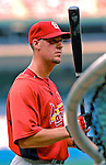 4 August 2007: St. Louis Cardinals left fielder Ryan Ludwick awaits his turn at batting practice prior to a game against the Washington Nationals at RFK Stadium in Washington, DC. The Nationals defeated the Cardinals 12-1 in the second game of their 3-game series...Mandatory Photo Credit: Ed Wolfstein Photo