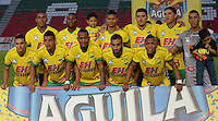IBAGUE -COLOMBIA, 7-09-2016 Formación  del Atlético Huila contra el Junior durante  el encuentro  por   la Liga Aguila II 2016 disputado en el estadio Murillo Toro./ Tem of Atletico Huila against Junior      during match for the  Aguila League II 2016 played at Murillo Toro stadium. Photo:VizzorImage / Juan Carlos Escobar  / Contribuidor