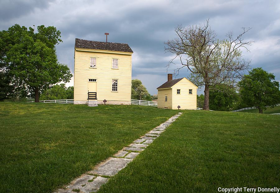 Harrodsburg, Kentucky:<br /> Spring views of The Shaker Village of Pleasant Hill