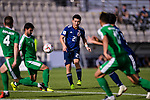 Doan Ritsu of Japan (C) in action during the AFC Asian Cup UAE 2019 Group F match between Japan (JPN) and Turkmenistan (TKM) at Al Nahyan Stadium on 09 January 2019 in Abu Dhabi, United Arab Emirates. Photo by Marcio Rodrigo Machado / Power Sport Images