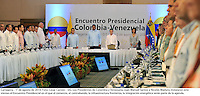 CARTAGENA  -COLOMBIA, 1-AGOSTO-2014.  Visita oficial del presidente de Venezuela  Nicolas Maduro a Colombia , encuentro con el presidente de Colombia Juan Manuel Santos . Cumbre Binacional / Official visit of President Nicolas Maduro of Venezuela to Colombia, meeting with President of Colombia Juan Manuel Santos. Binational Summit . Photo:VizzorImage / Cesar Carrion  / SIG