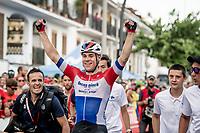 Dutch Champion Fabio Jakobsen (NED/Deceuninck - QuickStep) wins the stage 4 bunch sprint <br /> <br /> Stage 4: Cullera to El Puig (175km)<br /> La Vuelta 2019<br /> <br /> ©kramon