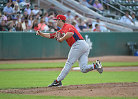 Austin Young (39) of the Orem Owlz delivers a pitch to the plate against the Ogden Raptors in Pioneer League action at Lindquist Field on June 18, 2015 in Ogden, Utah.  This was Opening Night play of the 2015 Pioneer League season. (Stephen Smith/Four Seam Images)