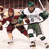 Alec Thieda (Norwich - 10), Ben Kravitz (Babson - 8) - The Norwich University Cadets defeated the Babson College Beavers 1-0 on Thursday, January 9, 2014, at Fenway Park in Boston, Massachusetts.