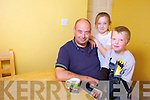 Sean Healy from Ballyduff, pictured with his children Rebecca (10) and Ryan (7), is appealing to people who are going through difficulties to seek help.