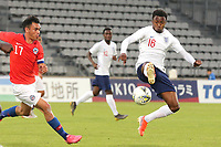 Kyle Edwards of West Brom and England in action during Chile Under-21 vs England Under-20, Tournoi Maurice Revello Football at Stade Parsemain on 7th June 2019