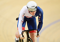 Picture by Alex Broadway/SWpix.com - 02/03/2018 - Cycling - 2018 UCI Track Cycling World Championships, Day 3 - Omnisport, Apeldoorn, Netherlands - Jack Carlin of Great Britain competes in the Men's Sprint 1/16 Finals.