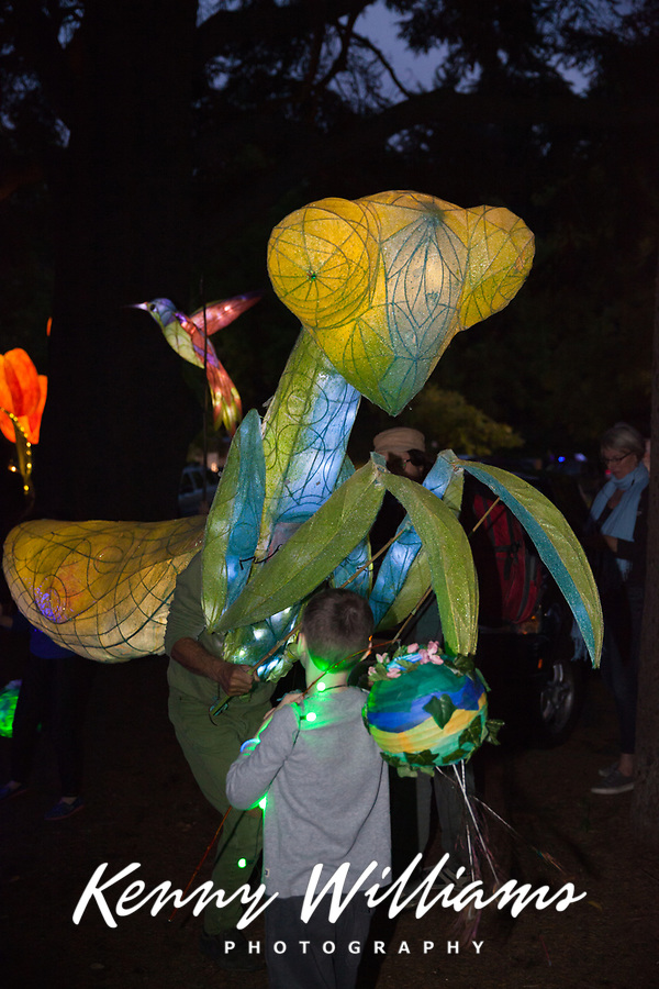 Luminata Lantern Parade 2015, Green Lake Park, Seattle, Washington State, WA, America, USA.