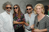 Ron Handler, Lucille, Isaac Resnikoff, Whitney Hubbs==<br /> LAXART 5th Annual Garden Party Presented by Tory Burch==<br /> Private Residence, Beverly Hills, CA==<br /> August 3, 2014==<br /> ©LAXART==<br /> Photo: DAVID CROTTY/Laxart.com==