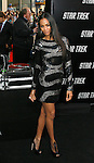 """HOLLYWOOD, CA. - April 30: Zoe Saldana arrives at the Los Angeles premiere of """"Star Trek"""" at the Grauman's Chinese Theater on April 30, 2009 in Hollywood, California.a"""