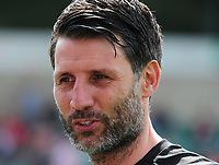 Lincoln City manager Danny Cowley during the pre-match warm-up<br /> <br /> Photographer Andrew Vaughan/CameraSport<br /> <br /> The EFL Sky Bet League Two - Lincoln City v Tranmere Rovers - Monday 22nd April 2019 - Sincil Bank - Lincoln<br /> <br /> World Copyright © 2019 CameraSport. All rights reserved. 43 Linden Ave. Countesthorpe. Leicester. England. LE8 5PG - Tel: +44 (0) 116 277 4147 - admin@camerasport.com - www.camerasport.com