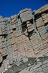 Fractured Granite caused by water freezing and thawing (expanding and contracting) in cracks, the weathering process called ice wedging or frost wedging, Pike's Peak, Colorado, USA.