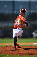 GCL Astros pitcher Forrest Whitley (63) delivers a pitch during the first game of a doubleheader against the GCL Mets on August 5, 2016 at Osceola County Stadium Complex in Kissimmee, Florida.  GCL Astros defeated the GCL Mets 4-1 in the continuation of a game started on July 21st and postponed due to inclement weather.  (Mike Janes/Four Seam Images)