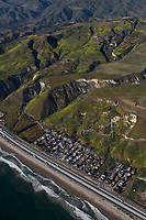 aerial photograph of La Conchita, Ventura County, California