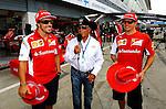 Fernando Alonso (ESP),  Scuderia Ferrari - Mario Andretti (USA) - Kimi Raikkonen (FIN), Scuderia Ferrari<br /> for the complete Middle East, Austria &amp; Germany Media usage only!<br />  Foto &copy; nph / Mathis