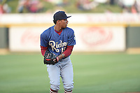 ***Temporary Unedited Reference File***Frisco RoughRiders shortstop Luis Marte (15) during a game against the Corpus Christi Hooks on April 23, 2016 at Whataburger Field in Corpus Christi, Texas.  Corpus Christi defeated Frisco 3-2.  (Mike Janes/Four Seam Images)