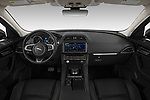 Stock photo of straight dashboard view of 2020 Jaguar F-Pace Prestige 5 Door SUV Dashboard