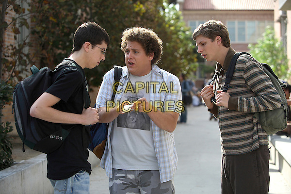 Christopher Mintz-Plasse, Jonah Hill & Michael Cera.in Superbad.*Filmstill - Editorial Use Only*.CAP/NFS.Supplied by Capital Pictures.