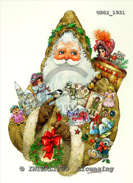 GIORDANO, CHRISTMAS SANTA, SNOWMAN, WEIHNACHTSMÄNNER, SCHNEEMÄNNER, PAPÁ NOEL, MUÑECOS DE NIEVE, nostalgic, paintings+++++,USGI1931,#X# nostalgic,vintage