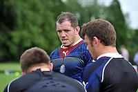 Paul James looks on. Bath Rugby training session on August 21, 2012 at Farleigh House in Bath, England. Photo by: Patrick Khachfe/Onside Images