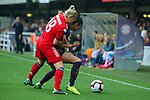 UEFA Women's Champions League 2018/2019.<br /> Semi Finals<br /> FC Barcelona vs FC Bayern Munchen: 1-0.<br /> Dominika Skorvankova vs Leia Ouahabi.