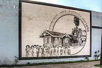Mural on old building in Stroud Oklahoma on Route 66.