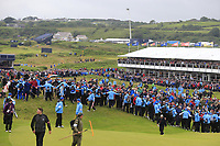Massive crowds as Shane Lowry (IRL) walks down the 18th hole during Sunday's Final Round of the 148th Open Championship, Royal Portrush Golf Club, Portrush, County Antrim, Northern Ireland. 21/07/2019.<br /> Picture Eoin Clarke / Golffile.ie<br /> <br /> All photo usage must carry mandatory copyright credit (© Golffile | Eoin Clarke)
