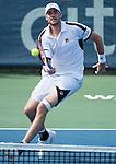 July 22,2016:   John Isner (USA) loses to Steve Johnson (USA) 7-6, 7-6 at the Citi Open being played at Rock Creek Park Tennis Center in Washington, DC, .  ©Leslie Billman/Tennisclix