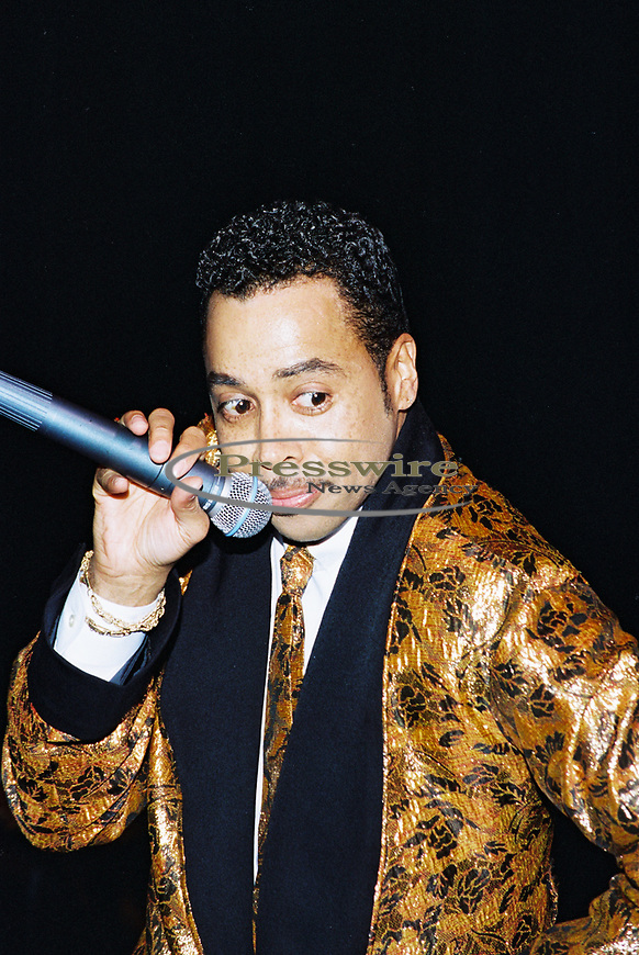 Singer Morris E. Day lead singer of The Time performing at the Essence Music Festival in New Orleans, Louisiana on July 3, 1995.  Photo credit: Elgin Edmonds/ Presswire News