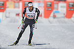 Giacomo Gabrielli in action at the sprint qualification of the FIS Cross Country Ski World Cup  in Dobbiaco, Toblach, on January 14, 2017. Credit: Pierre Teyssot