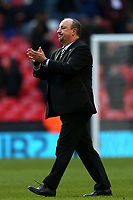 Newcastle United manager Rafa Benítez after Tottenham Hotspur vs Newcastle United, Premier League Football at Wembley Stadium on 2nd February 2019
