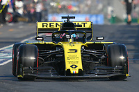 March 16, 2019: Daniel Ricciardo (AUS) #3 from the Renault F1 Team leaves the pit to start the qualification session at the 2019 Australian Formula One Grand Prix at Albert Park, Melbourne, Australia. Photo Sydney Low